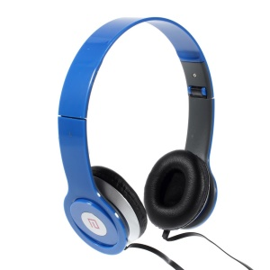 Blue Langston IM-6 Super Bass Foldable Over-ear Headphone with Mic for iPhone iPad Samsung HTC LG Huawei Xiaomi etc