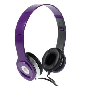 Purple Langston IM-6 Super Bass Foldable Over-ear Headphone with Mic for iPhone iPad Samsung HTC LG Huawei Xiaomi etc