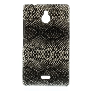 Black Snake Texture Leather Coated Hard PC Case for Nokia X2 1013 Dual SIM