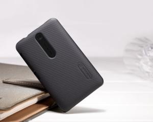 Nillkin Super Matte Hard Case for Nokia Asha 501 w/ Screen Film;Red
