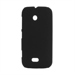 Rubberized Matte Hard Case for Nokia Lumia 510 - Black