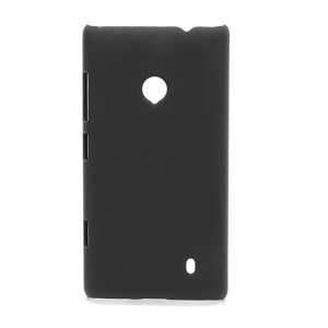 Rubberized Protective Hard Case Cover for Nokia Lumia 520 - Black