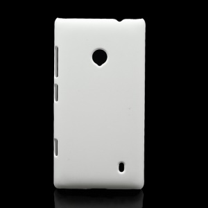 Rubberized Protective Hard Case Cover for Nokia Lumia 520 - White