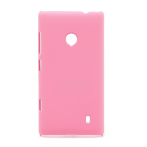 Rubberized Protective Hard Case Cover for Nokia Lumia 520 - Pink