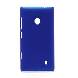 Rubberized Protective Hard Case Cover for Nokia Lumia 520 - Dark Blue