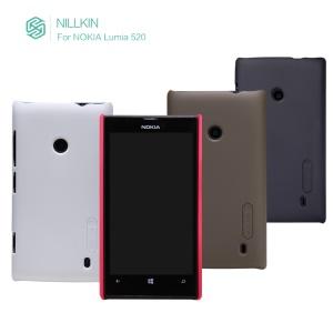 Nillkin Super Matte Shield Hard Case Shell for Nokia Lumia 520 525 + Screen Film;Red