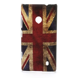 Vintage Union Jack Flag Hard Case Accessories for Nokia Lumia 520