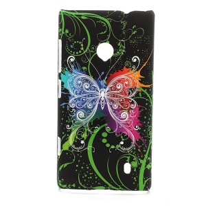 Butterfly Flora Hard Plastic Case for Nokia Lumia 520