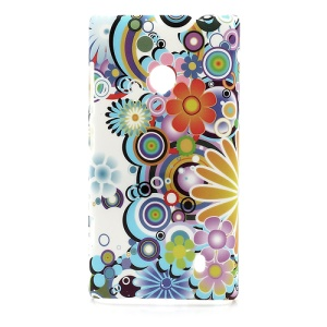 Colorized Flowers Hard Case Accessories for Nokia Lumia 520