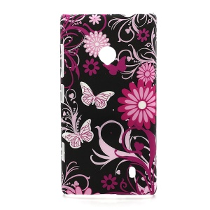 Flowers Flora Plastic Cover Case for Nokia Lumia 520