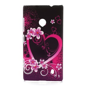 Heart Flower Plastic Case Accessories for Nokia Lumia 520