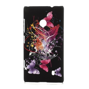 Butterfly Ribbon Hard Shell Case for Nokia Lumia 520