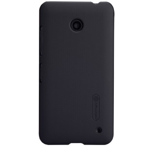 Black Nillkin Super Frosted Shield Hard Back Case for Nokia Lumia 630 w/ Screen Protector
