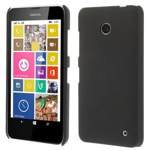 Matte Quicksand Hard Plastic Case for Nokia Lumia 635 630 - Black