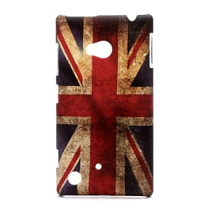Retro Union Jack UK Flag Hard Case Shell for Nokia Lumia 720