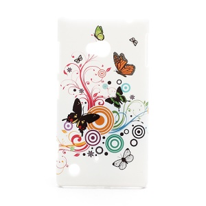 Vivid Butterfly Circle Hard Plastic Case for Nokia Lumia 720