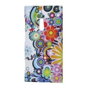 Nokia Lumia 800 Sea Ray Colorful Flower Hard Plastic Cover