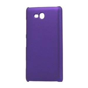 Rubberized Hard Case Cover for Nokia Lumia 820 - Purple