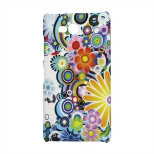Colorized Flower Hard Plastic Case for Nokia Lumia 820