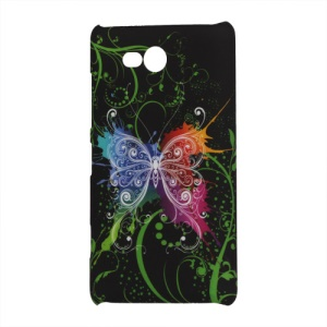 Pretty Butterfly Black Ground Hard Case for Nokia Lumia 820