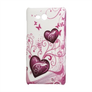 Nokia Lumia 820 Hard Case Cover Two Hearts Pattern