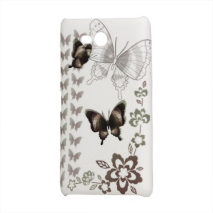 Butterfly Rubberized Hard Case for Nokia Lumia 820