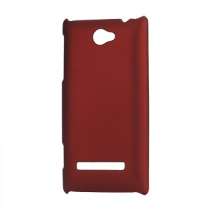 Rubberized Frosted Hard Shell Case for HTC Windows Phone 8S - Red