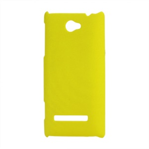 Rubberized Frosted Hard Shell Case for HTC Windows Phone 8S - Yellow