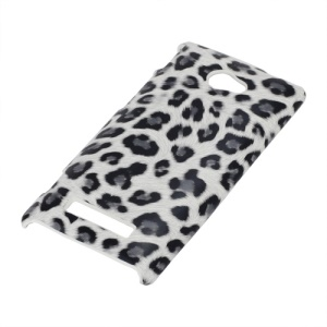 Fashion Leopard Skin Hard Case for HTC Windows Phone 8S - White