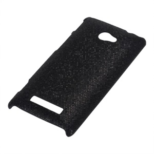 Glittery Paillette Hard Plastic Cover Case for HTC Windows Phone 8S - Black