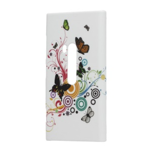 Colorful Circles Butterflies Pattern Hard Case for Nokia Lumia 920