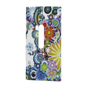 Colorful Flowers Hard Plastic Case Cover for Nokia Lumia 920