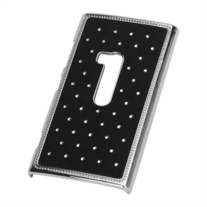 Deluxe Rhinestone Starry Sky Effect Electroplating Hard Back Case for Nokia Lumia 920 - Black