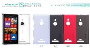 Nillkin Super Frosted Shield Hard Case w/ Screen Protector for Nokia Lumia 925;Red