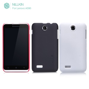 Premium Nillkin Super Frosted Shield Hard Case Cover for Lenovo A590 + LCD Film