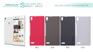 Nillkin Super Frosted Shield Hard Case w/ Screen Protector for Huawei Ascend P6