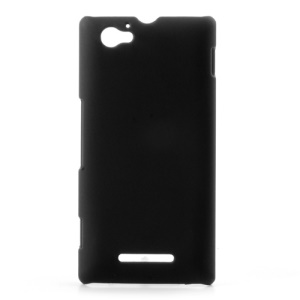 Black Rubberized Matte Plastic Case for Sony Xperia M C1905 C1904 C2004 C2005
