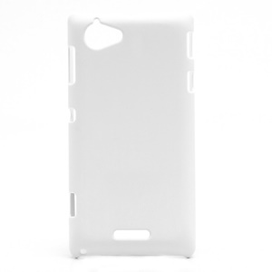 Rubberized Hard Plastic Case Accessories for Sony Xperia L S36h C2105 C2104 - White