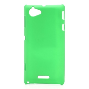 Rubberized Hard Plastic Case Accessories for Sony Xperia L S36h C2105 C2104 - Green