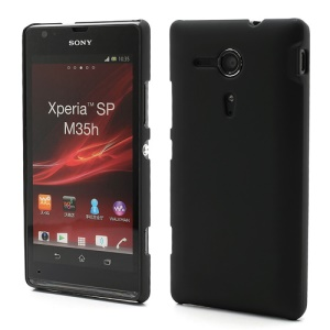 Rubberized Hard Case Accessories for Sony Xperia SP C5303 C5302 C5306 M35h - Black