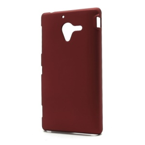 Matte Hard Plastic Case Cover for Sony Xperia ZL C6503 C6502 C6506 L35h - Red