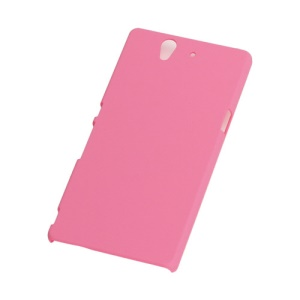Solid Color Smooth Rubberized Strong Hard Back Case for Sony Xperia Z C6603 C6602 L36h HSPA+ LTE - Pink