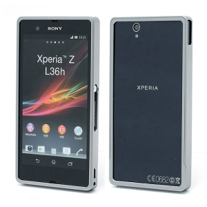 Detachable Aluminum Alloy Metal Frame Bumper Case for Sony Xperia Z C6603 L36h Yuga - Grey