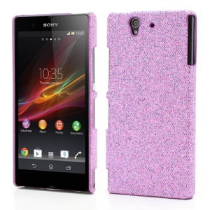 Glittery Sequins Hard Plastic Case for Sony Xperia Z C6603 C6602 L36h HSPA+ LTE - Light Purple