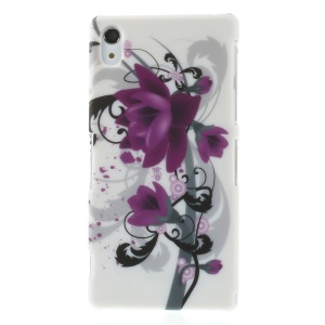 For Sony Xperia Z2 D6502 D6503 D6543 Plastic Hard Cover - Elegant Lotus Flower