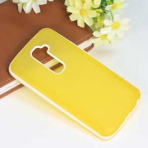 Frosted TPU & PC Combo Shell Cover for LG Optimus G2 D801 D802 - Yellow