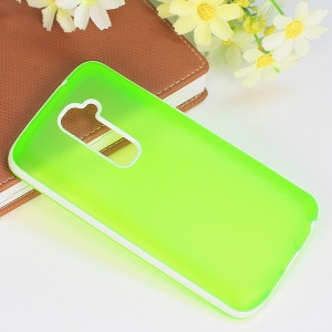 Frosted TPU & PC Combo Protective Case for LG Optimus G2 D801 D802 - Green