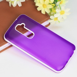 Frosted TPU & PC Combo Cover for LG Optimus G2 D801 D802 - Purple