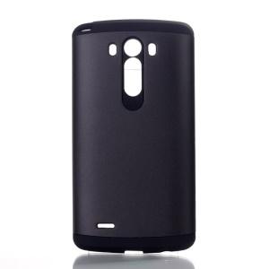 PC & TPU Slim Armor Shield Case for LG G3 D850 D855 LS990 - Black