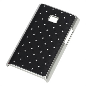 Baby-Breath Diamond Plating Hard Back Case for LG Optimus L3 E400 - Black